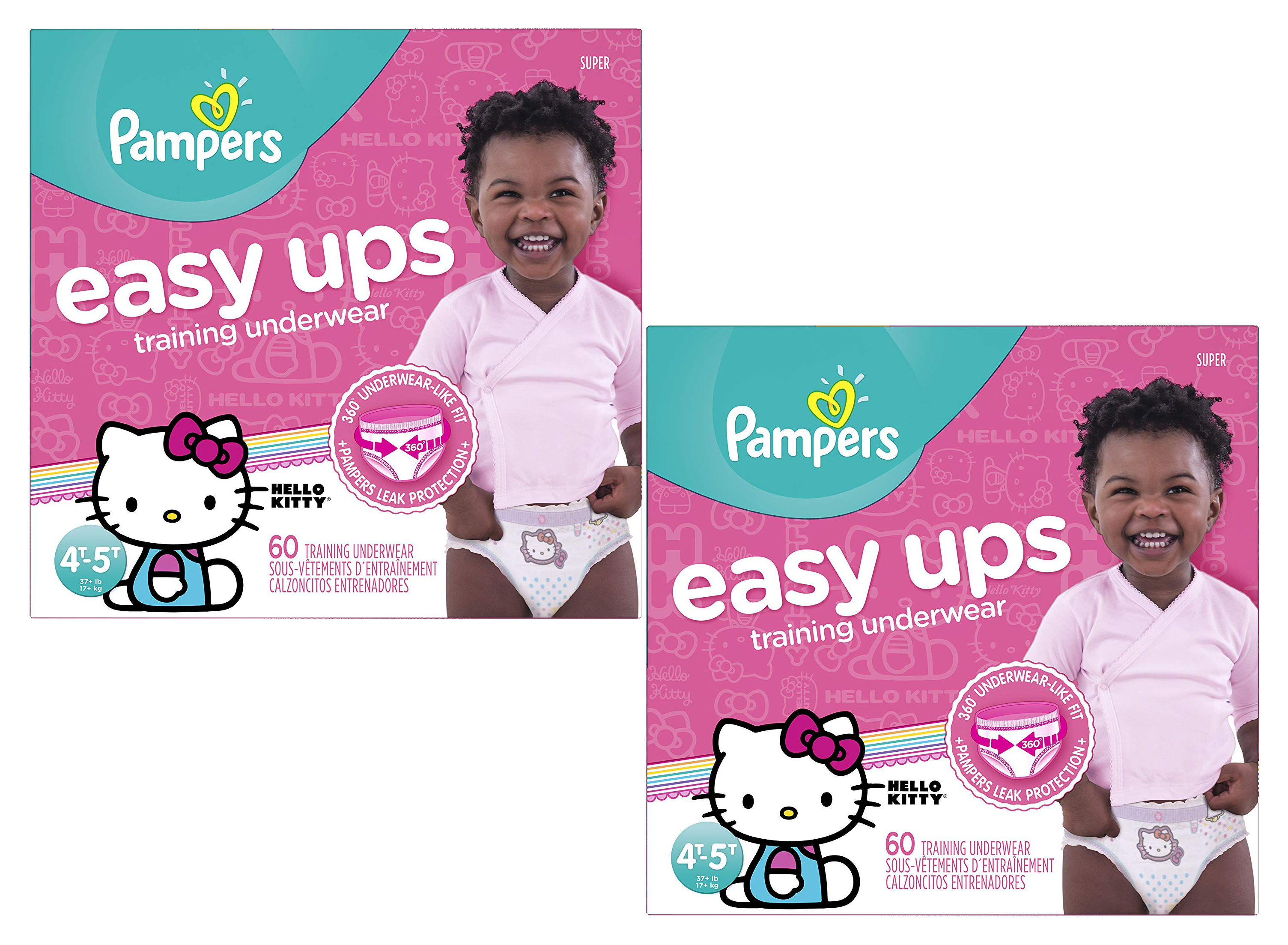Pampers Easy Ups Pull On Training Diapers Girls Size 6 60ct 2 Pack